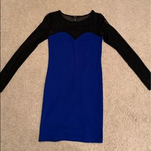 Blue/Black Dress